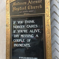 Madison Avenue Baptist Church Sign